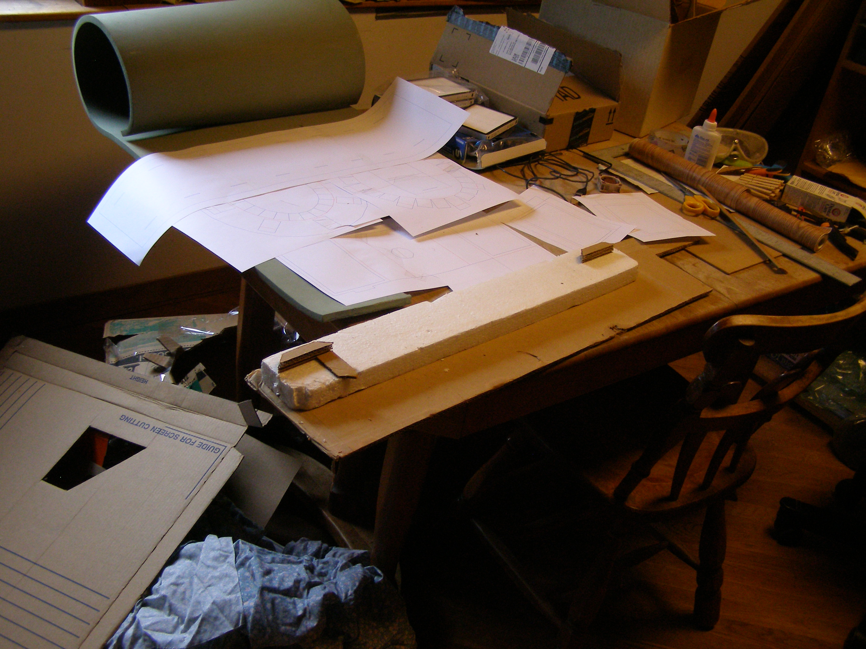 [Photo: a pile of various materials, described below.]